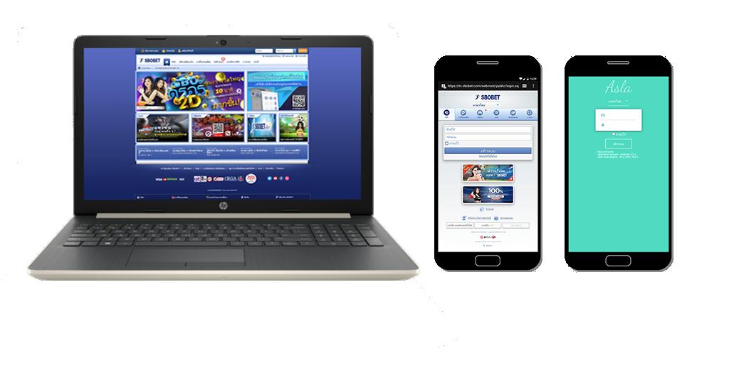 สมัครเข้าเล่นเว็บพนันออนไลน์ SBOBET ได้ทุกอุปกรณ์